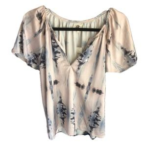 LILKA Anthropologie NWT silky peasant pajama top L